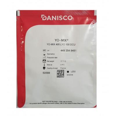 Термофильная закваска YO-MIX 495 Даниско 100 DCU для йогурта и кисломолочных продуктов