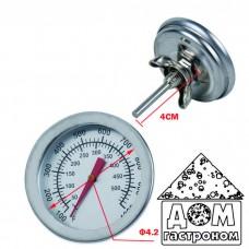 Механический термометр для коптильни от +50 до +500 °C
