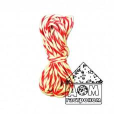 Шпагат хлопчатобумажный для колбасы  (красный с белым)