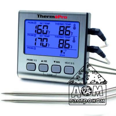 Термометр двухканальный для мяса Thermopro TP17 (-10C до +300C) с таймером и магнитом